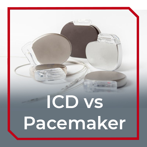 What is the difference between a pacemaker and an ICD?